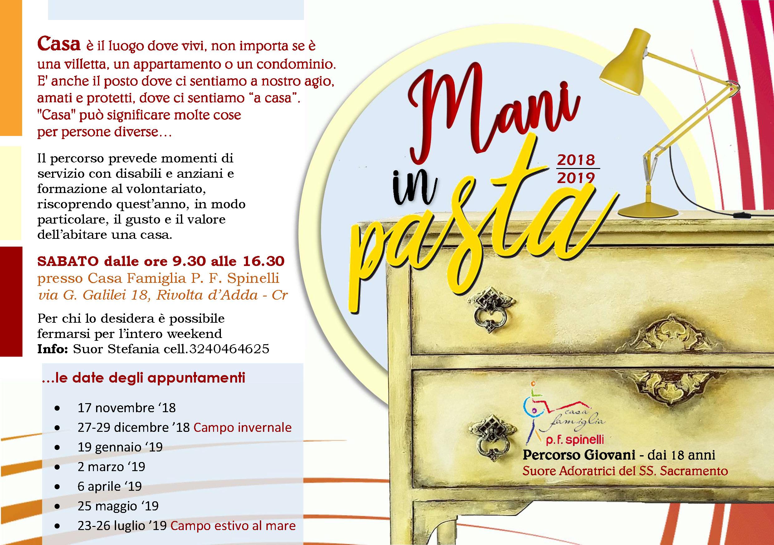 Mani in pasta 2018-2019