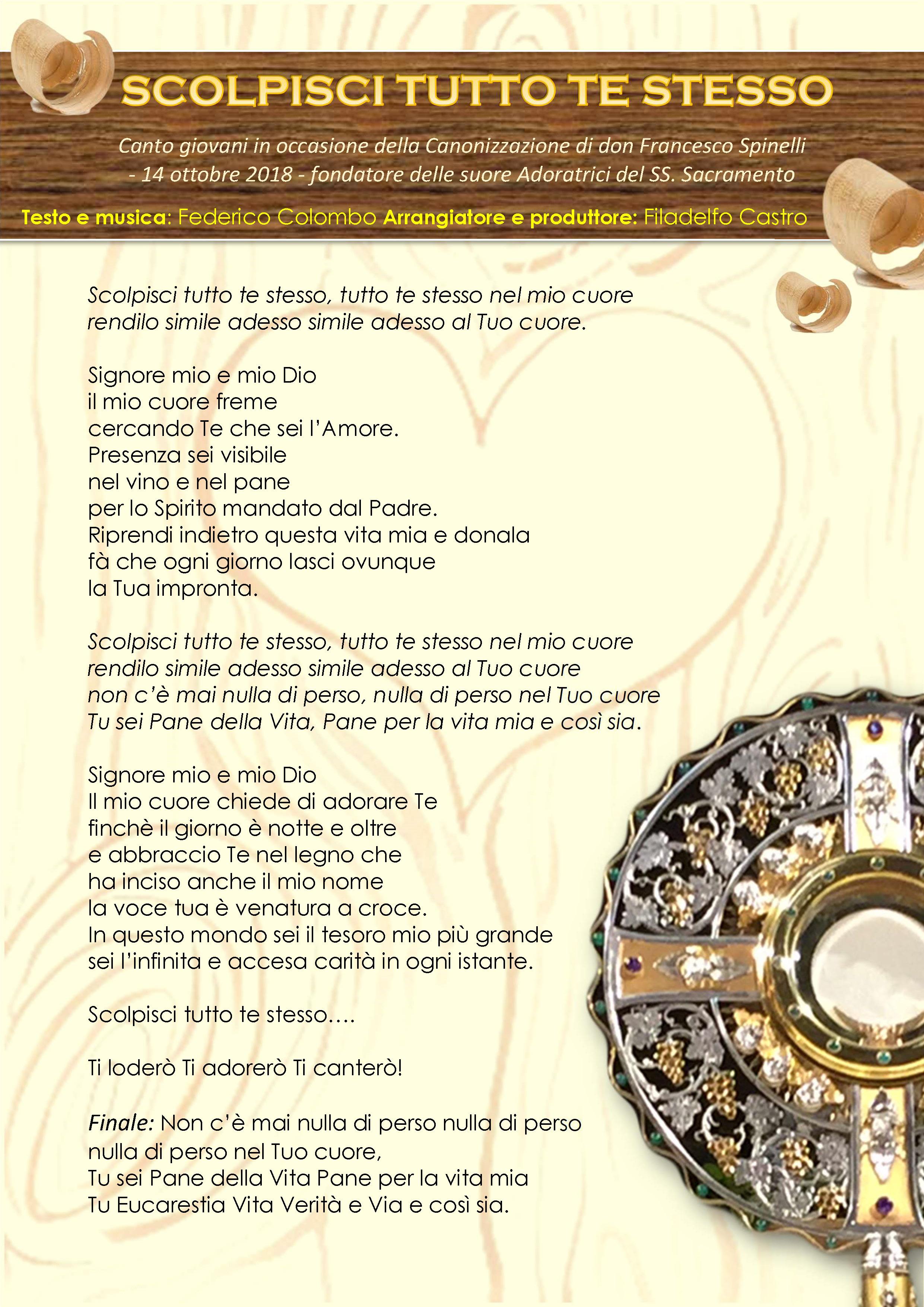 testo canto Carisma